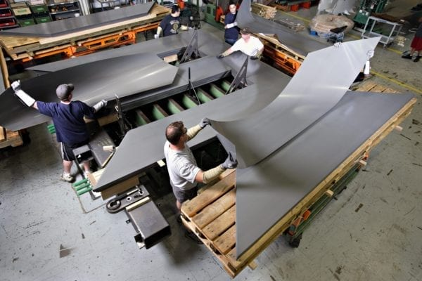 Power Transformer Core Being Manufactured