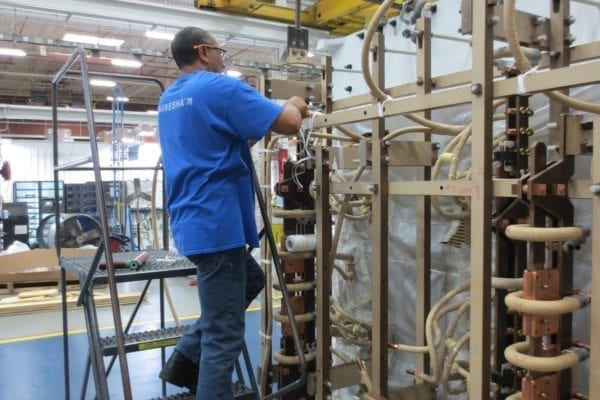 Transformer Coil Windings Being Manufactured