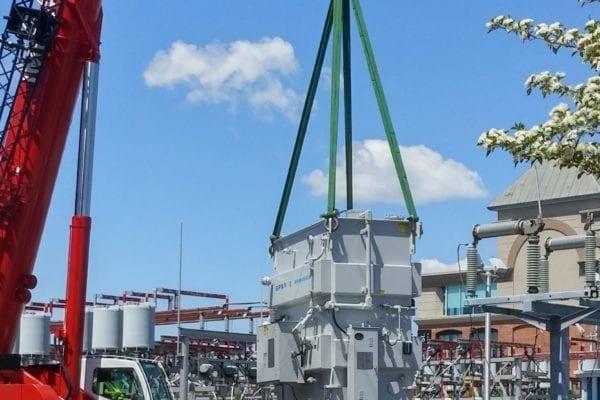 Power Transformer being installed