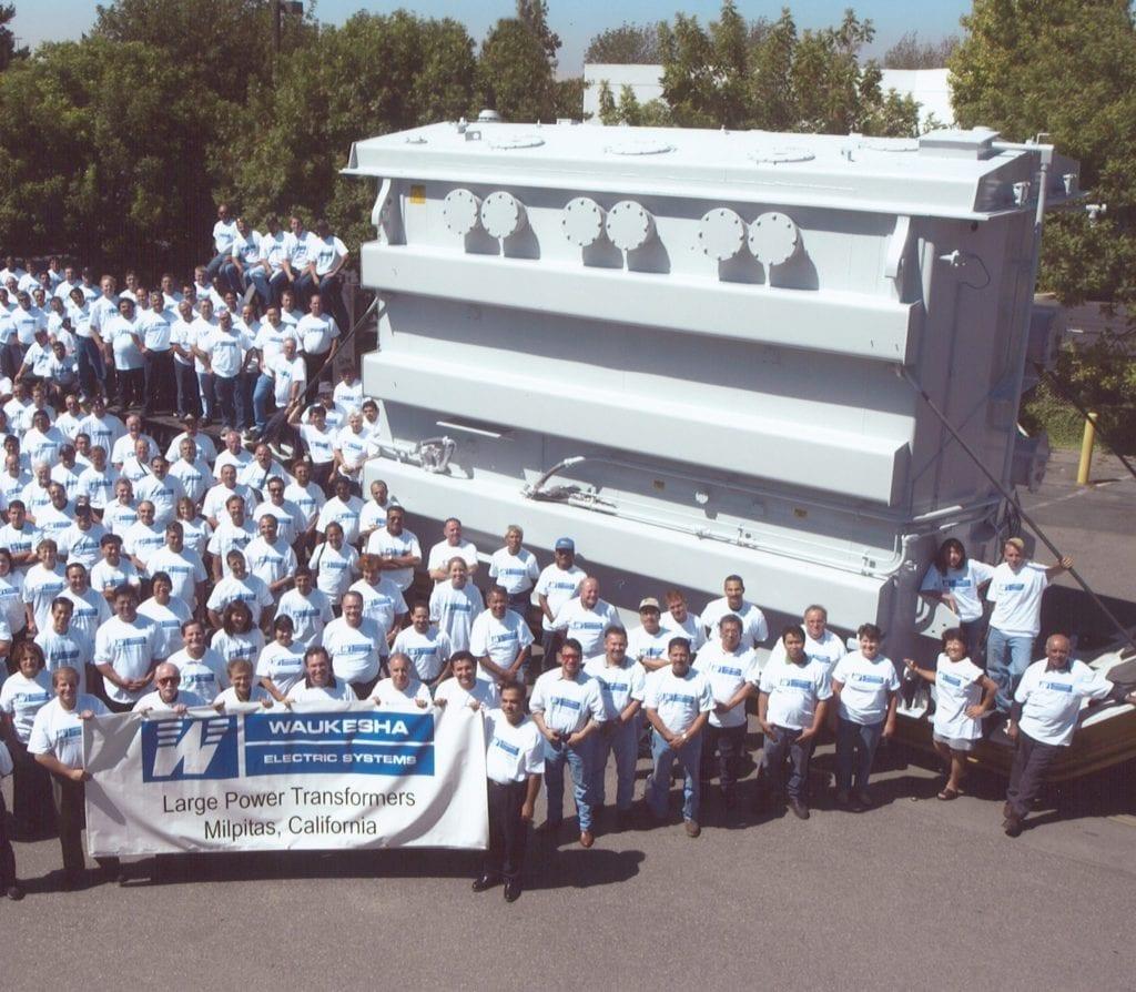 Large shot of SPX employees