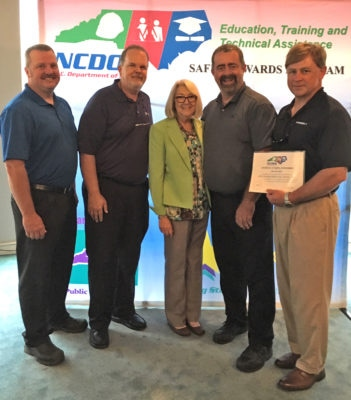 Goldsboro Safety Gold Award